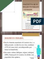 Caracteristicas de Los Bioelementos Primarios y Secundarios