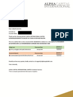 contoh receipt of fund alpha capital