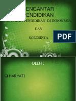 Kelompok 7 - Masalah Pendidikan Di Indonesia Dan Solusinya
