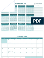 IC Work Personal Planning 2018 Annual Calendar Template