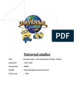 Universal Studios Business Report