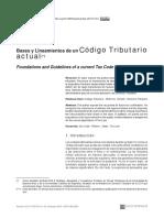 Bases y Lineamientos de Un Código Tributario Actual