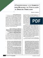 El Derecho Constitucional a Un Ambienta Sano, Derechos Humanos y Su Vinculación Con El Derecho Tributario