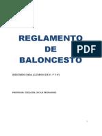 Resumen Reglamento BALONCESTO