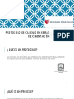 Protocolo de Calidad en Obras de Cimentación