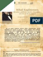 Mihail Kogălniceanu, prozator, publicist, istoric, om politic – 200 de ani de la naştere