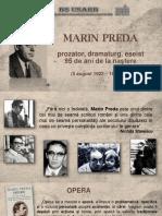 Marin Preda, prozator, dramaturg, eseist - 95 de ani de la naştere