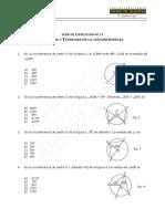 8586-MAT 20 - Guía de Ejercicios, Ángulos en La Circunferencia WEB 2016