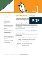 08.1 Self Esteem Unit Self Esteem Quotes