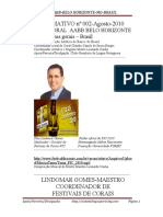 SILVIA ARAÚJO MOTTA-LIVRO ELETRÔNICO-INFORMATIVO  002 -CLUBE BRASILEIRO DA LÍNGUA PORTUGUESA/CORAL AABB-07 PAG-1ª ED. AGOSTO 2010