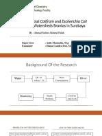 Analisis Kadar Bakteri Colifrom Dan Escherichia Coli Pada