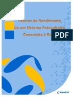 Fatores de Rendimento de SFCR