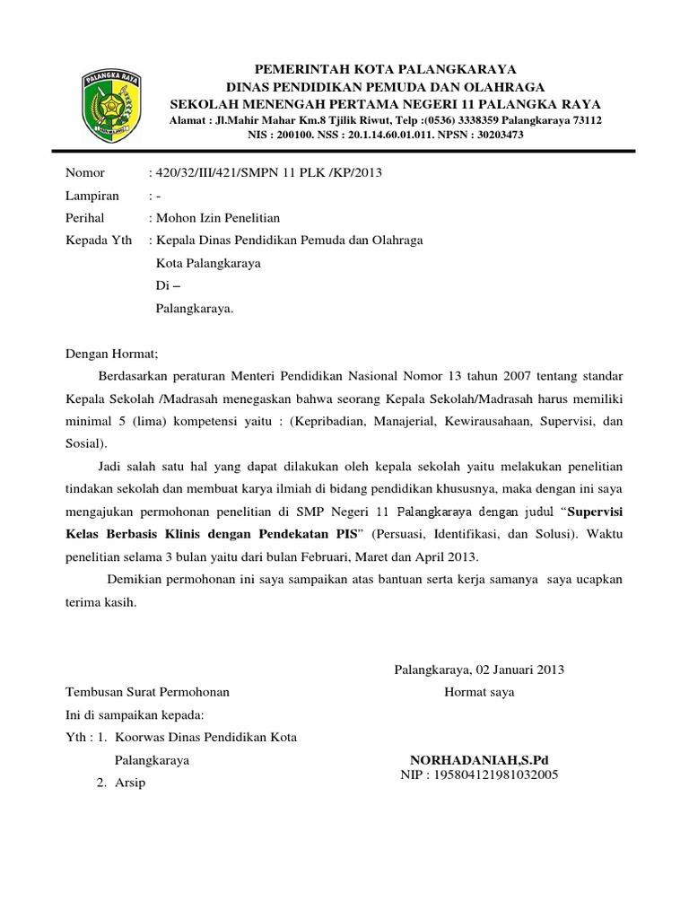 Contoh Kop Surat Dinas Pendidikan Pemuda Dan Olahraga ...