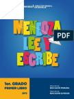 Mendoza Lee Escribe 1er Grado 1er Libro