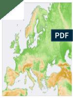 Mapa Fisico Europa