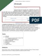 Arquitetura de Informação – Wikipédia, A Enciclopédia Livre