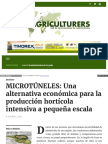Microtuneles Una Alternativa Economica