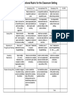 social emotional behavioral rubric for the classroom setting isca