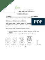 Guía de multiplicaciones 4° 03 de Octubre de 2017