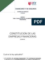 4 Constitucion de Las Empresas Financieras
