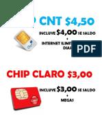 Letrero Chip