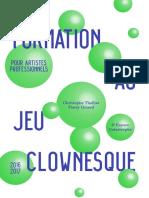 Brochure Interactive - Formation Au Jeu Clownesque Pour Pro -