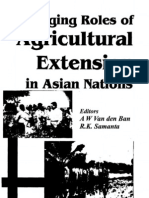 Changing Roles of Agricultural Extension in Asia Nations
