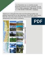 Chile Es Un País Ubicado en El Hemisferio Sur Zonas Geograficas
