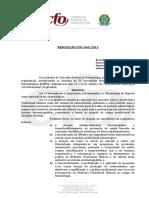 Resolução CFO 160 15 Novas Especialidades