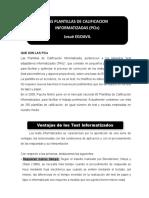 Instrucciones Para El Llenado de La Plantilla de Calificacion Electronica