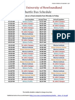 Shuttle - Final Schedule