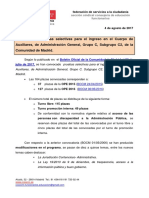 2017_08_04_Convocatoria Oposicion Auxiliar Administrativo Comunidad de Madrid.