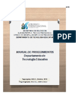 Manual de Procedimientos Tecnologia Educativa 2013 Ultima Version