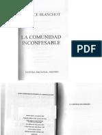 Blanchot Maurice La Comunidad Inconfesable PDF