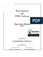 Well Analyzer and TWM Operating Manual
