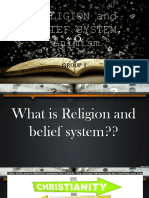 Religion and Belief System, Animism