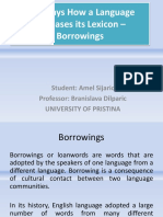 Borrowings in English