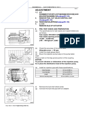 1Hxxx Injection Pumps | Turbocharger | Pressure