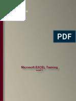 Excel Training - Level 1