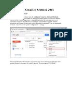 Configurar Gmail en Outlook 2016