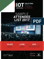 IoTSWC Sample Attendee List 2017