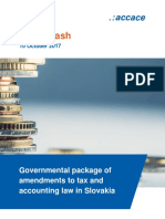 Governmental package of amendments to tax and accounting law in Slovakia