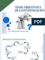 hipotesis objetivos de la investigacion