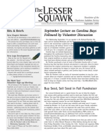 September 2005 Lesser Squawk Newsletter, Charleston Audubon