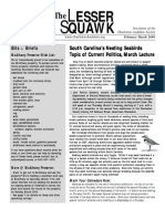 February-March 2006 Lesser Squawk Newsletter, Charleston Audubon