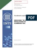 Procedimiento INTI Medicion