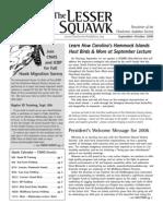 Sept-Oct 2006 Lesser Squawk Newsletter, Charleston Audubon