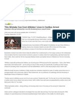 This Mistake Can Cost Athletes' Lives in Cardiac Arrest_ MedlinePlus Health News