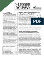 Nov-Dec 2007 Lesser Squawk Newsletter, Charleston Audubon