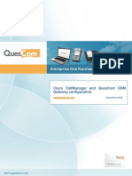 Cisco CallManager and QuesCom GSM Gateway Configuration EN1210